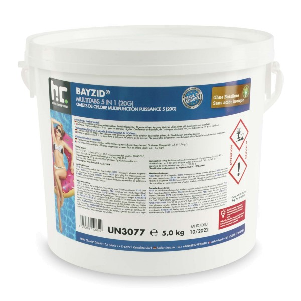 5 kg BAYZID® Multitabs 20g 5in1 für Pools