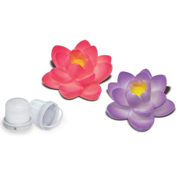 Fleur de lotus LED flottante