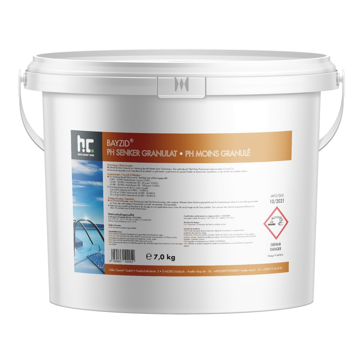 2 x 7 kg pH Minus Granulat