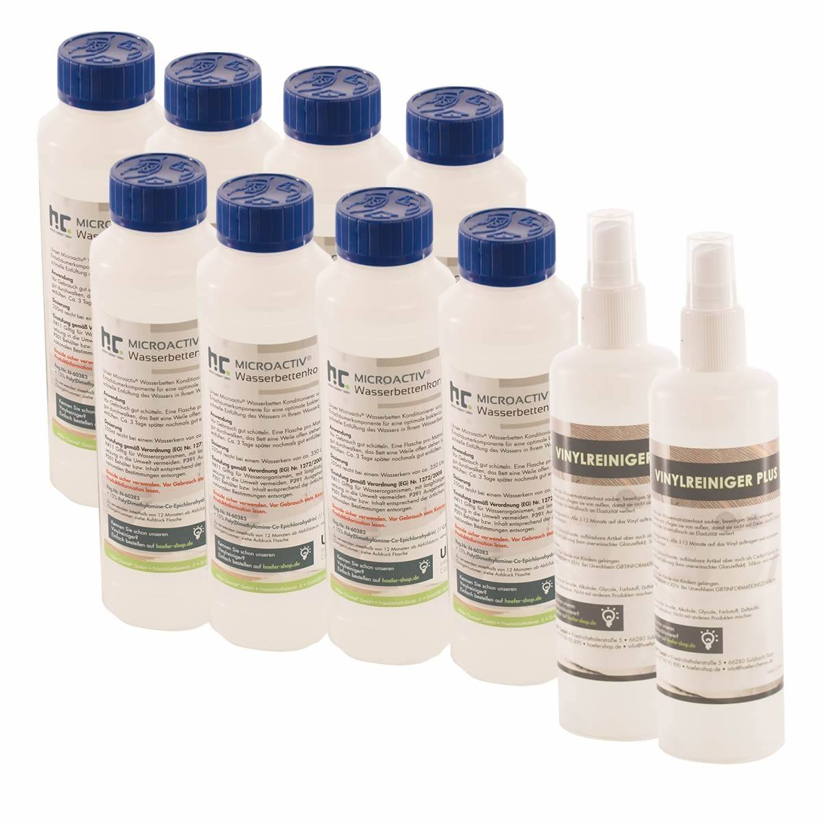 8 x 250 ml Konditionier + 2 x 250 ml Vinylreiniger