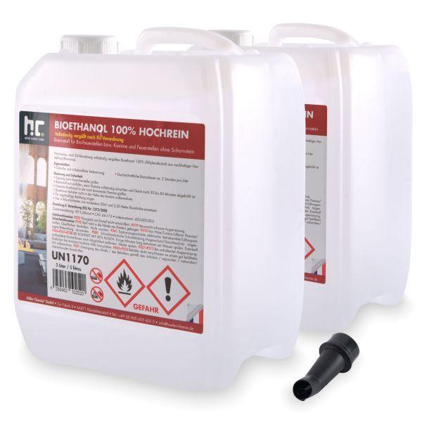 2 x 5 L Bioethanol 100%