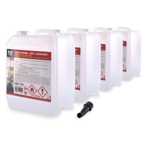 4 x 5 L Bioethanol 100%