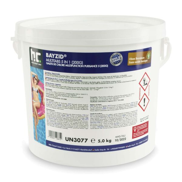 BAYZID Pool Multitabs 5in1 200g (5kg Eimer)